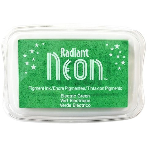 Almohadilla de Tinta Radiant Neon Color Electric Green