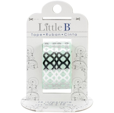 Cinta Decorativa Washi Tape Silver Honeycomb Little B - comprar online