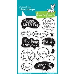 Sellos Chit Chat Clear Stamp Lawn Fawn - comprar online