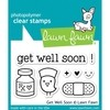 Sellos Get Well Soon Clear Stamp 7.6cm x 5cm Lawn Fawn