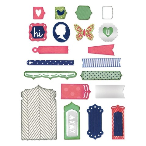 Set de troqueladoras Fancy Base Layering Shapes Sizzix Thinlits - comprar online