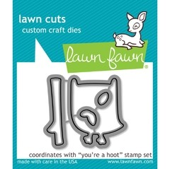Kit de Troqueladora y Sello You 're a Hoot Clear Stamp Lawn Fawn 7.5 cm x 5 cm en internet