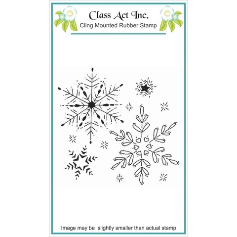 Sellos Copos de Nieve Cling Stamp Class Act - comprar online