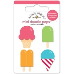 Stickers de heladitos summer treats pop up Doodlebug
