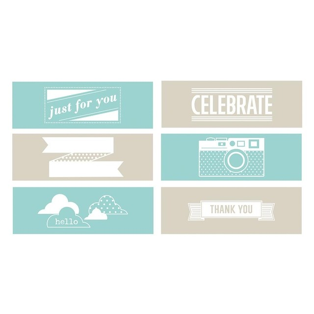 Set de 6 Carpetas Texturizadoras Embossing Frases We R Memory Keepers