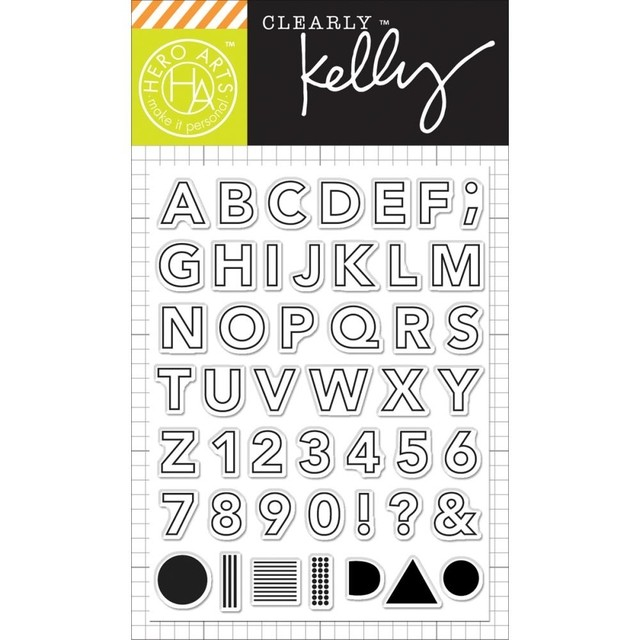 Sello Alfabeto Outline Letters Clear Stamps Hero Arts