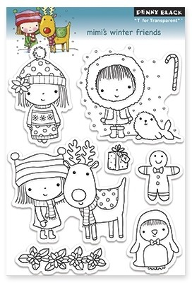 Sellos Mimi's Winter Friends Clear Stamp Penny Black