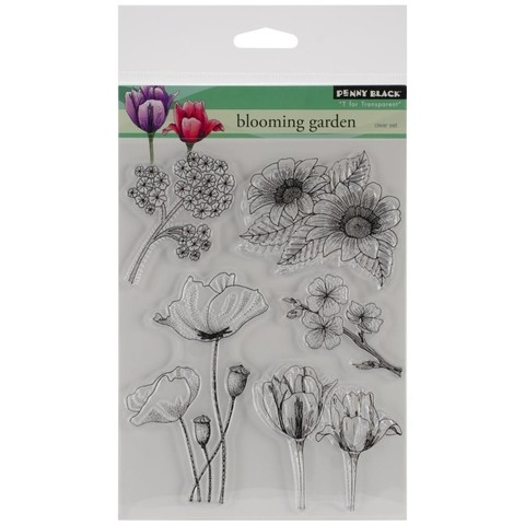 Sellos Blooming Garden Clear Stamp Penny Black
