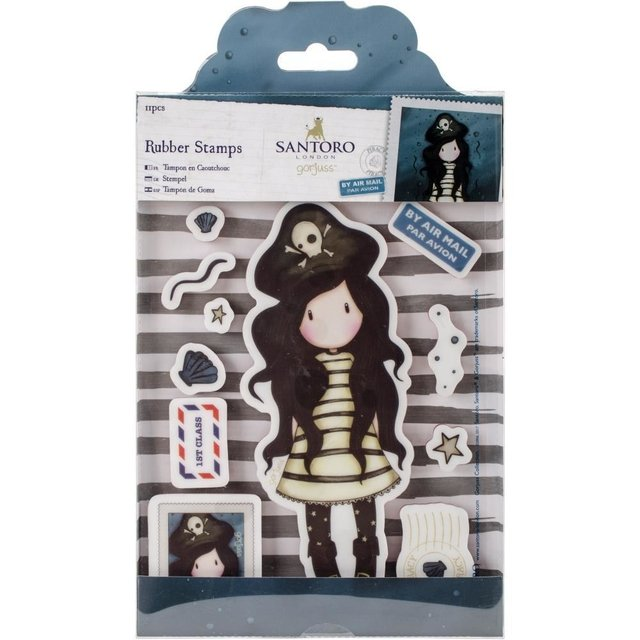 Sellos Cling Stamp Gorjuss Piracy Santoro