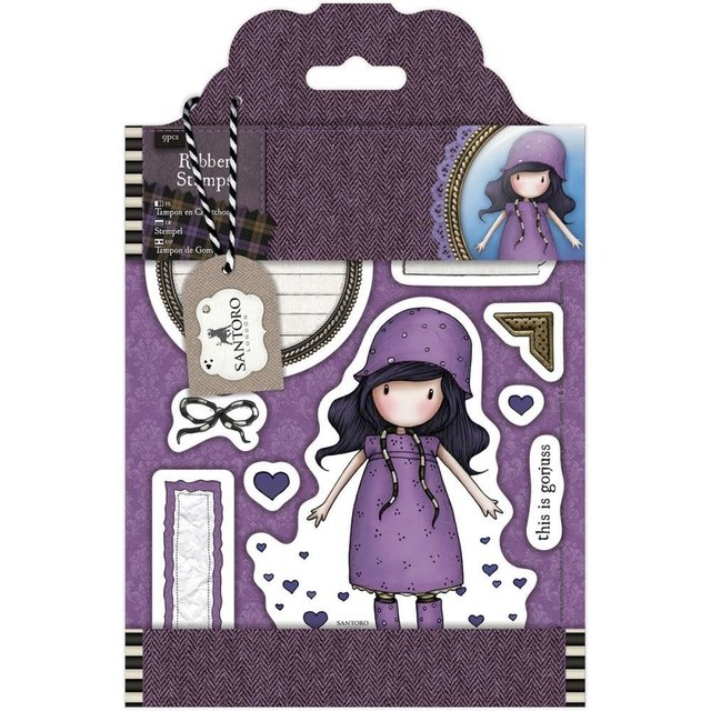 Sellos Cling Stamp Gorjuss Rainy Santoro