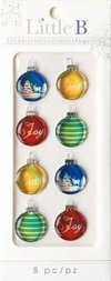 Stickers tridimensionales Christmas Ornaments Navidad Little B