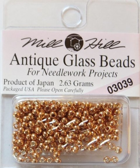 Perlas para coser de Vidrio Antique Champagne Mill Hill 2,5mm