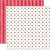 Papel bi-faz Holly Berry Small Dot 30,5 x 30,5 cm de 180 gr