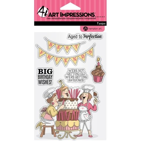 Sello Art Impressions Big Birthday Wishes - comprar online