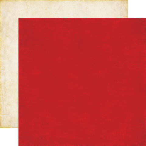 Papel bi-faz Red/Cream 30,5 x 30,5 cm de 180 gr