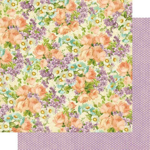 Papel bi-faz Perfect Petals 30,5 x 30,5 cm de 180 gr