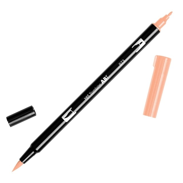 Rotulador punta pincel Tombow Dual Brush 873 Coral