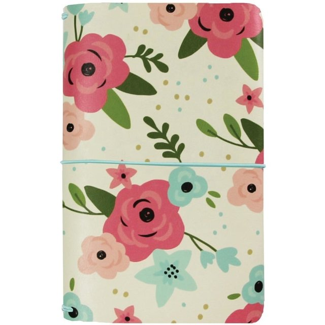Traveler Notebook Carpe Diem 12,7x20,95 cm Color Cream Blossom