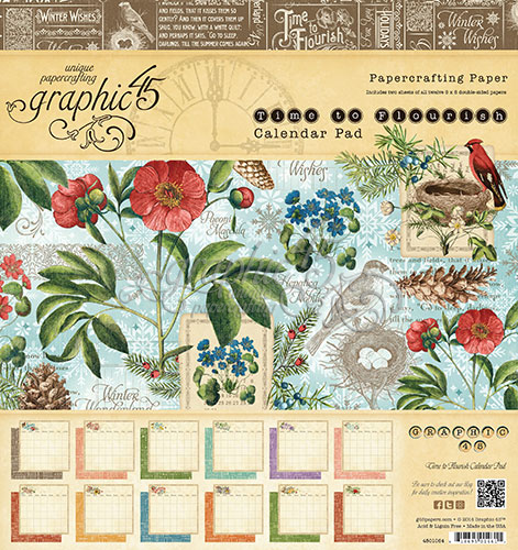 Calendario en block 20,3 x 21,5 Graphic 45