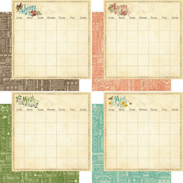 Calendario en block 20,3 x 21,5 Graphic 45 - comprar online