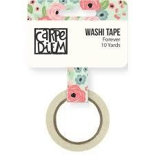 Cinta Decorativa Washi Tape Romance Forever Carpe Diem