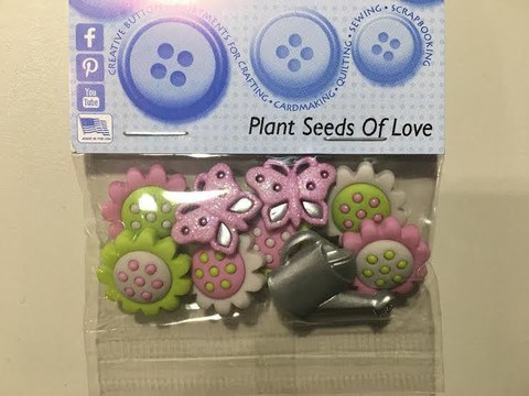 Botones decorativos Plant Seeds of Love Dress it Up - comprar online
