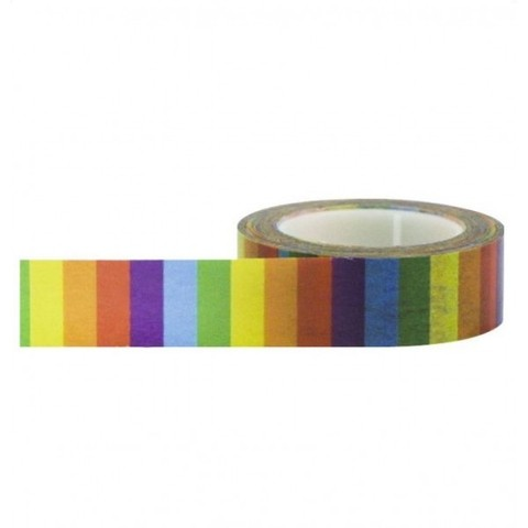 Cinta Decorativa Washi Tape Rainbow