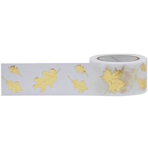 Cinta Decorativa Washi Tape Gold Foil Autumn Leaves Little B - comprar online