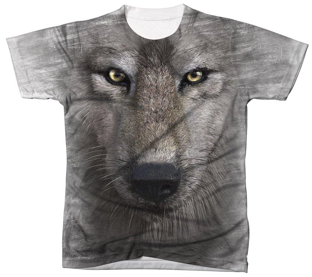 06f41a3d20 Camisa Camiseta 3D Animal Cachorro Dog Lobo Wolf 1