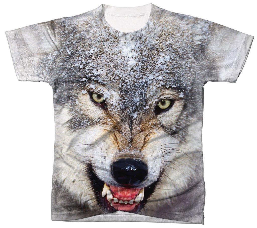 3f73ea4f34 Camisa Camiseta 3D Animal Cachorro Dog Lobo Wolf 3
