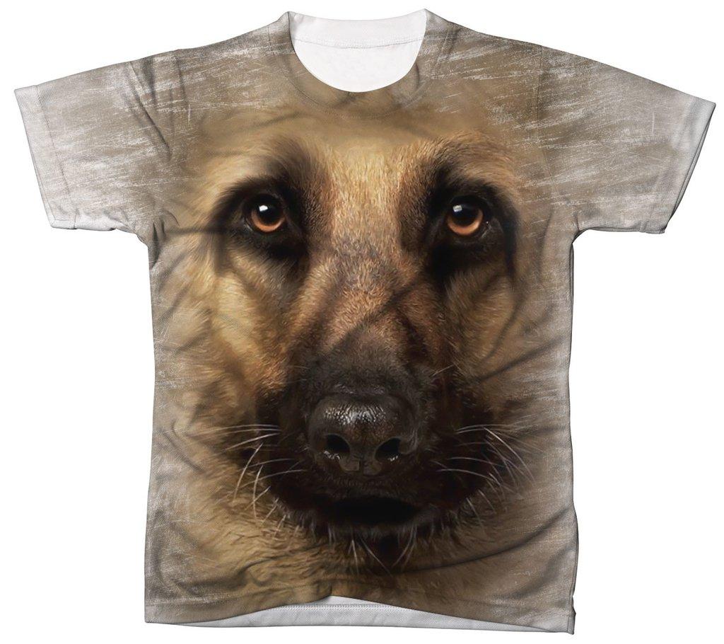 Camisa Camiseta 3D Animal Cachorro Dog Pastor Alemão 1 40e01ed0e02