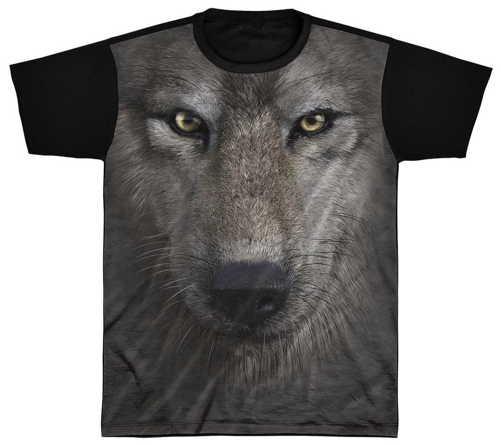 f1ca93dd4b Camisa Camiseta Preta 3D Animal Cachorro Dog Lobo Wolf 1