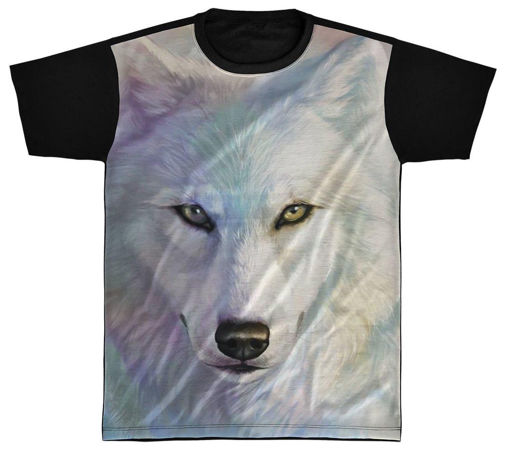 9cc977cba6 Camisa Camiseta Preta 3D Animal Cachorro Dog Lobo Wolf 4
