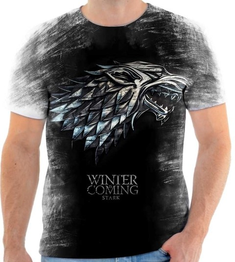 Camiseta Game of Thrones  Winter Is Coming Stark