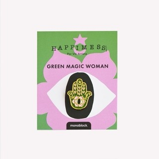 Pin Vintage Green Magic Woman