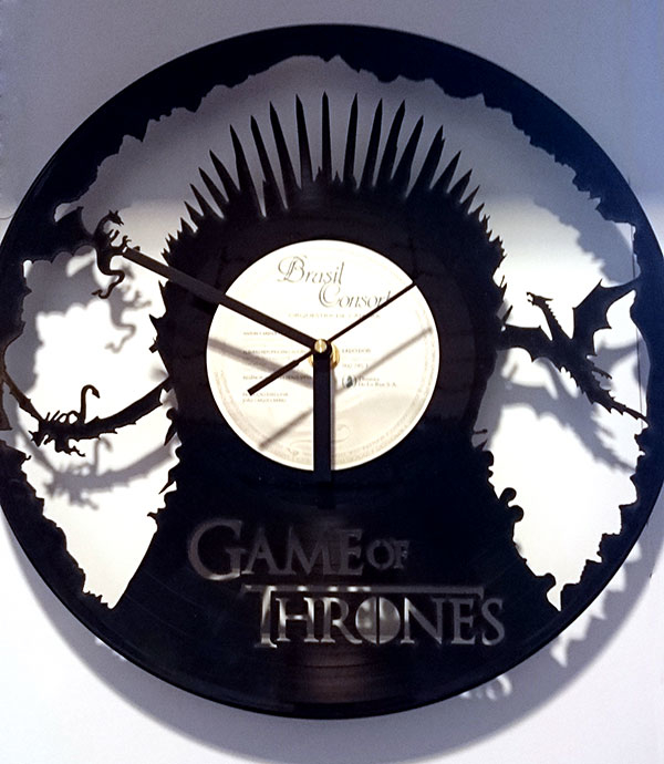 Reloj de pared vinilo game of thrones - Reloj de pared vinilo ...