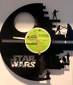 Reloj de Pared Vinilo Star Wars
