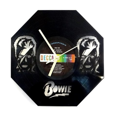 Reloj de Pared Vinilo David Bowie