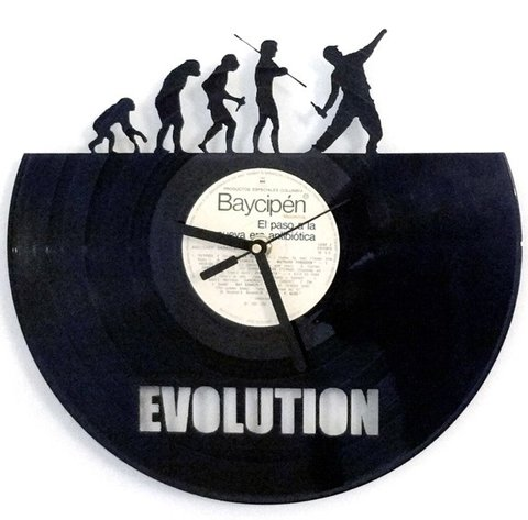 Reloj de Pared Vinilo Evolution