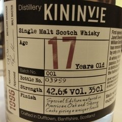 Whisky Single Malt Kininvie 17 Years Old. En Estuche. - comprar online