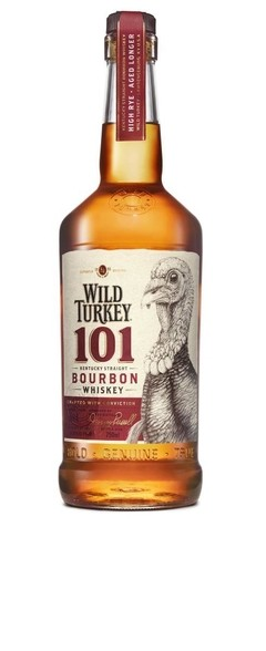 Whisky Wild Turkey 101 Kentucky Straight, Botellón De Litro.