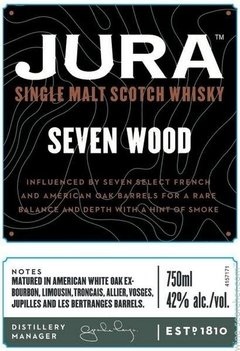 Whisky Jura Seven Wood Madurado En 7 Tipos Distinto De Roble. - Todo Whisky