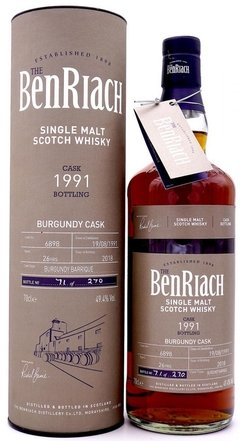Whisky The Benriach 26 Años 1991 49,4% Abv Origen Escocia.