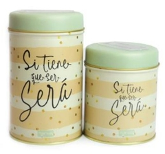 KIT DE 2 LATAS ESTAMPADAS