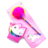 SET BIROME ARCOIRIS + ANOTADOR UNICORNIO