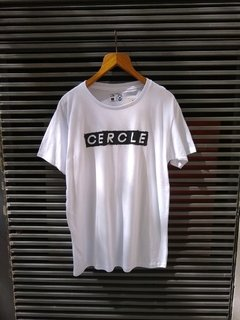 Remera cercle blanca letters