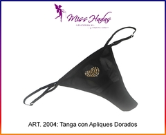 ART. 2004: Tanga Cola Less de Tul con Strass