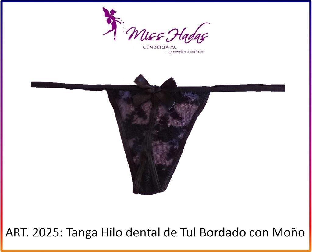 e0f5cae9ac89 ART. 2026: Tanga de Tul bordado Hilo Dental con detalle de Moño