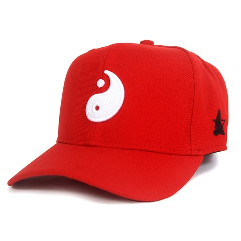 Boné Baseball Yin-Yang Red