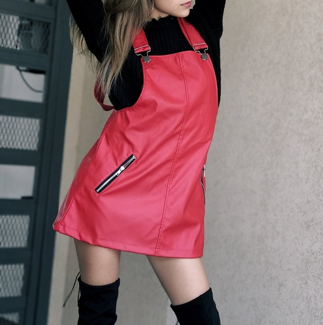 JUMPER LEATHER ROJO
